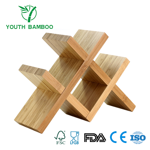 Bamboo Wine Rack 4 Bottle