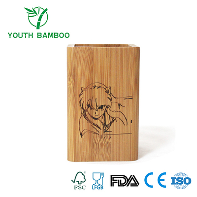Bamboo Pencil Container Holder