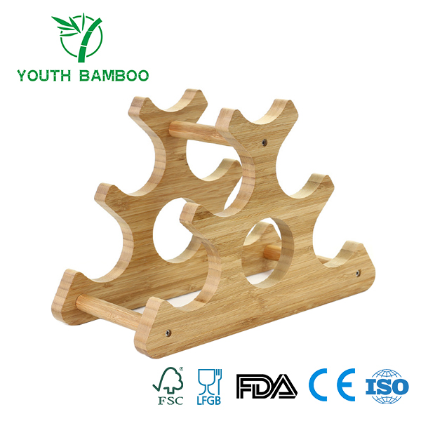 Bamboo Stackable Wire Rack