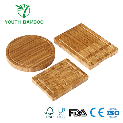 Bamboo Cutting Board Set With Juice Groove
