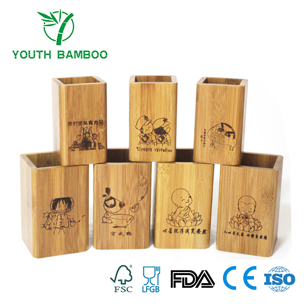 Bamboo Pen Holder Customized Design
