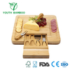 Bamboo Cheese Board Set with Hidden Slide Out Drawer