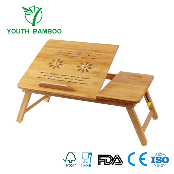 Bamboo Laptop Portable Desk With Vent